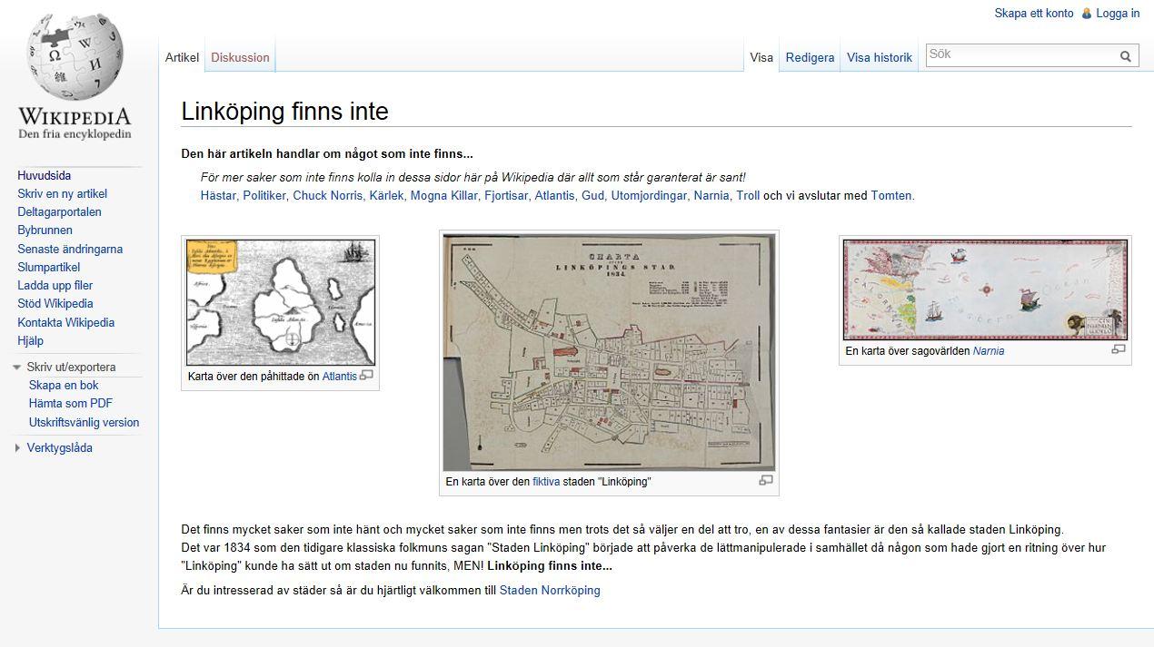 Linköping finns inte