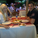 Cornelia Thorstensson & Daniel Åhs Karlsson På Restaurang (Turkiet)