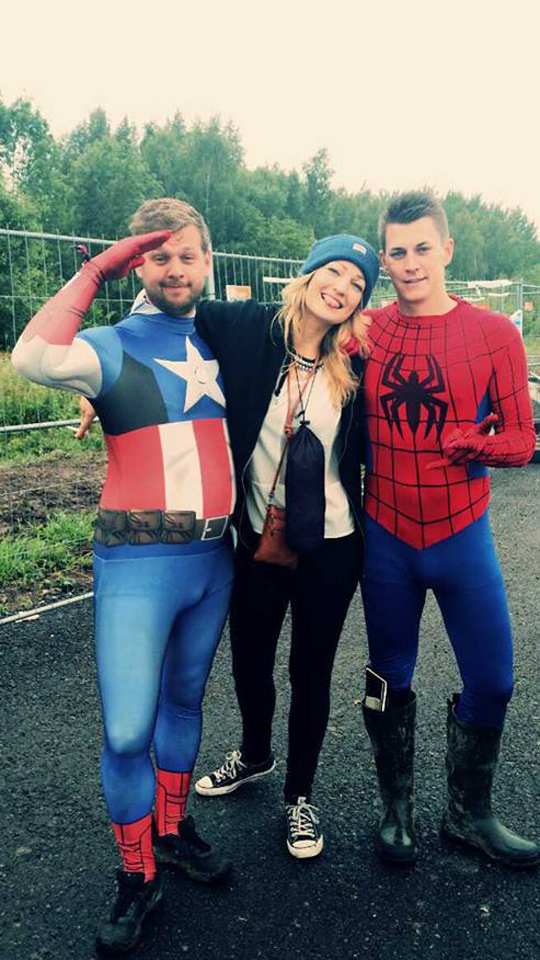2014. Captain America, Ilse Kesteris & Spiderman