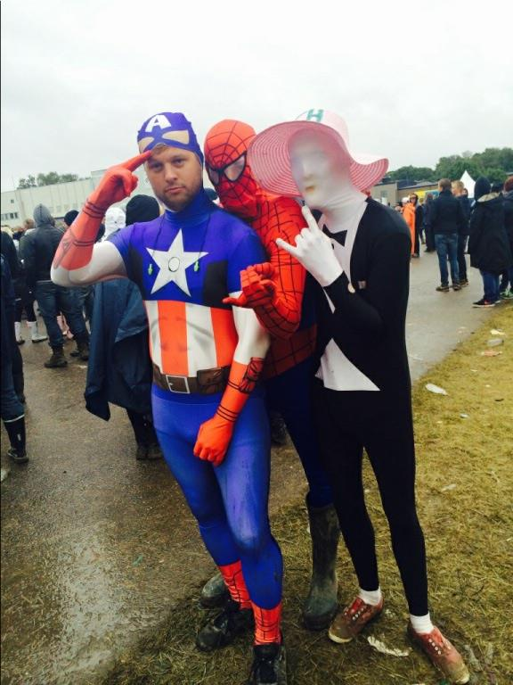 Captain America, Spiderman And Costume